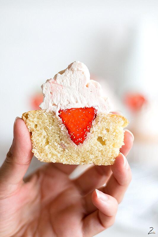 Die besten Cupcakes mit Erdbeer Buttercreme