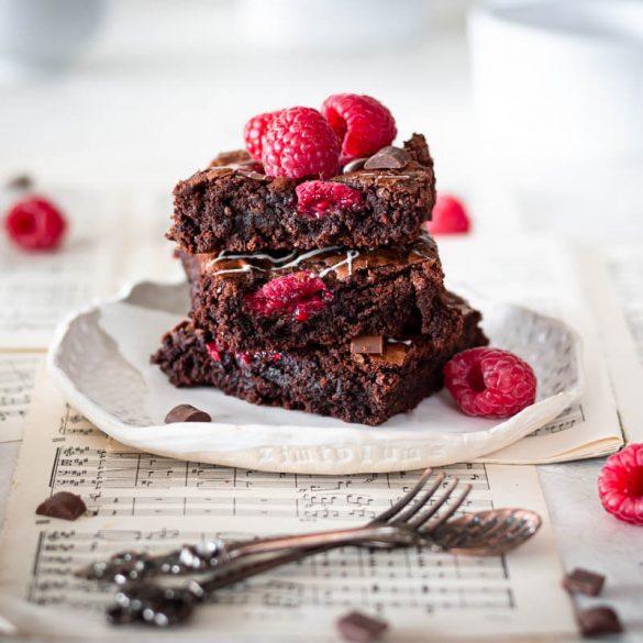 Himbeer Brownies Rezept Zimtblume