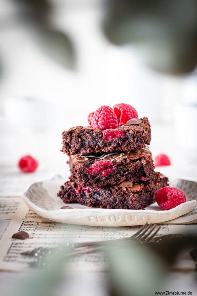 Himbeer Brownies Zimtblume