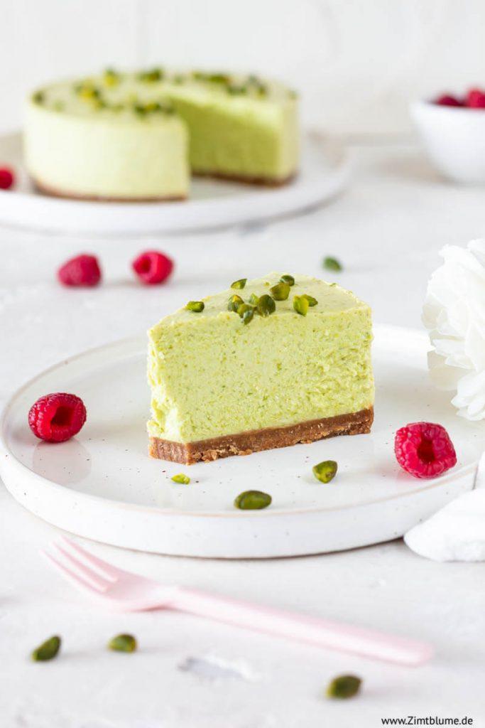 Kühlschrankkuchen: Pistazien Cheesecake