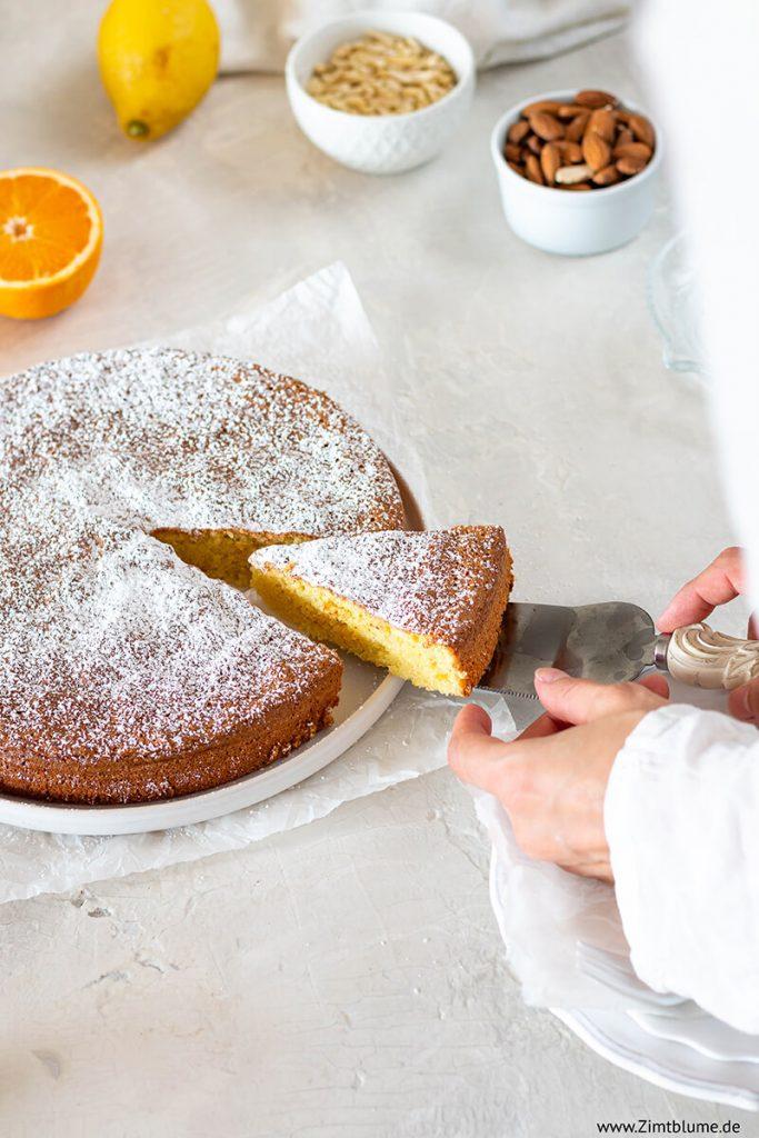 Mandelkuchen ohne Mehl Rezept