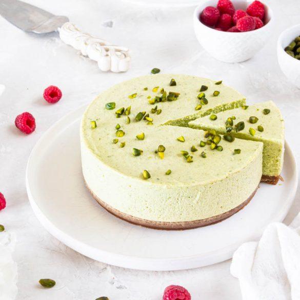 No Bake Pistazien Cheesecake