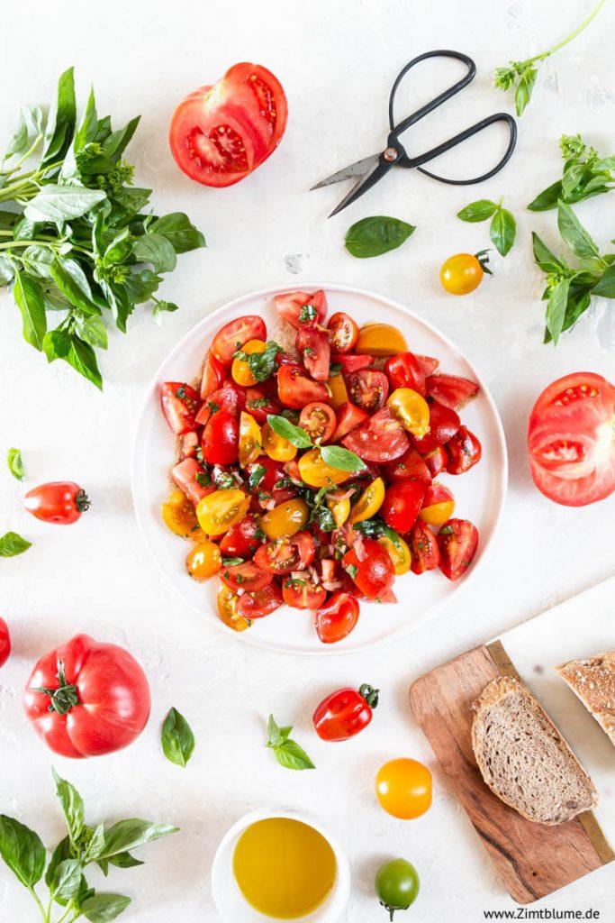 Tomatensalat selber machen