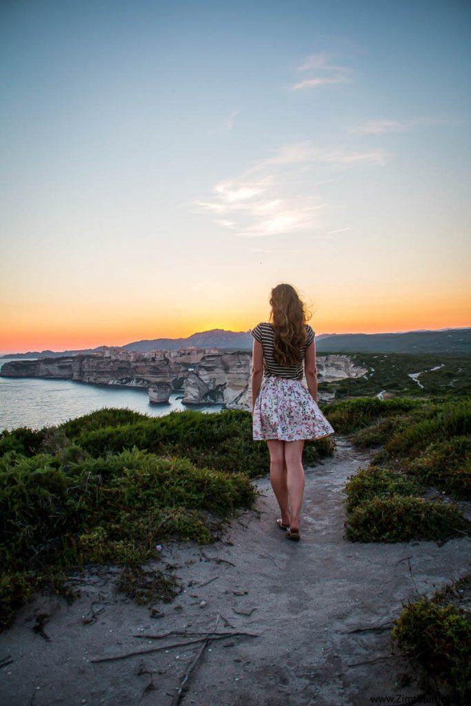 Sonnenuntergang Korsika Urlaub