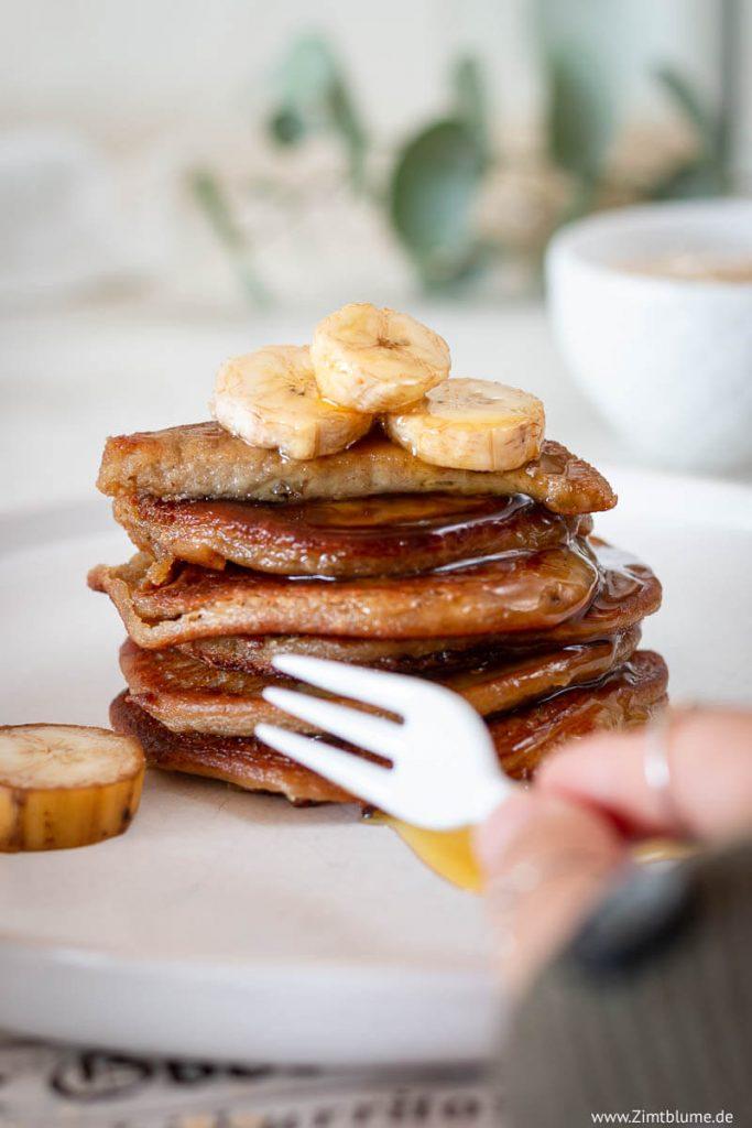 Gesunde Pancakes mit Banane