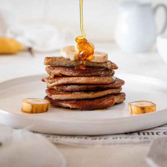 Pancakes ohne Zucker: Das beste Rezept mit Banane und Haferflocken